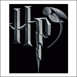 harry potter hp logo cross stitch pattern