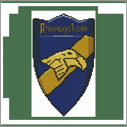 harry potter ravenclaw v2 cross stitch pattern