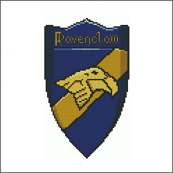 harry potter ravenclaw v2 cross stitch pattern