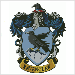 harry potter ravenclaw v3 cross stitch pattern