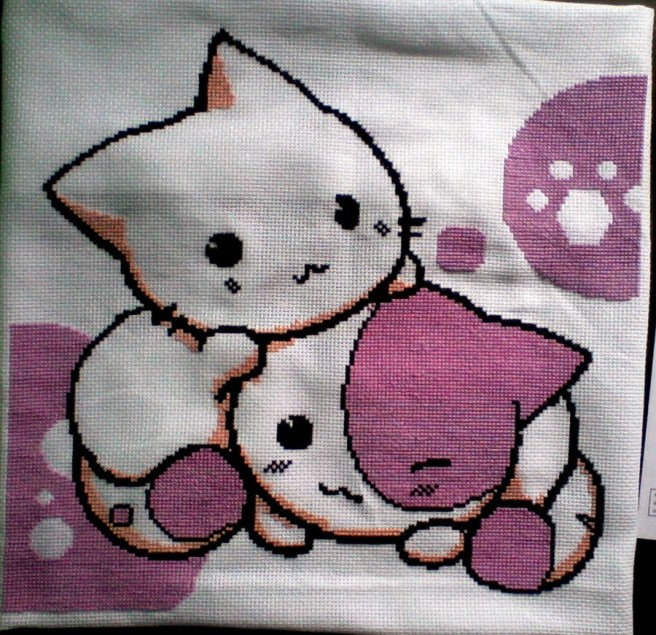 kittys Point de croix cross stitch by ancusa (source: pinterest)