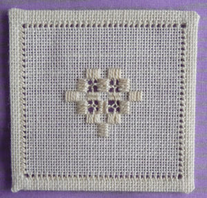 Hardanger cross stitch fabric example