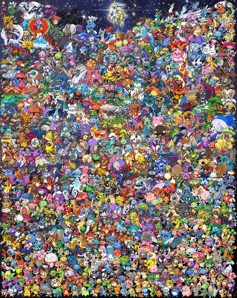 Free Epic Pokemon All Generations Cross Stitch Pattern