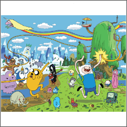 adventure time characters free cross stitch pattern
