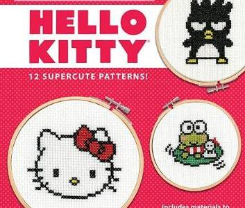 Hello Kitty 12 super cute patterns cross stitch creations Book by Lord Libidan cover (source: amazon)