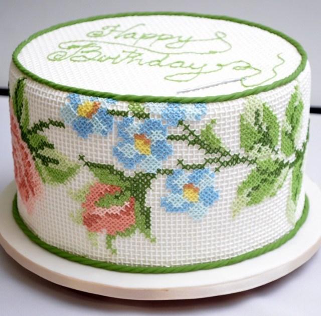 awesome cross stitch cake by ana salinas
