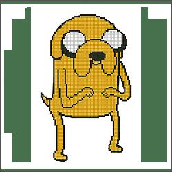 free adventure jake the dog cross stitch pattern