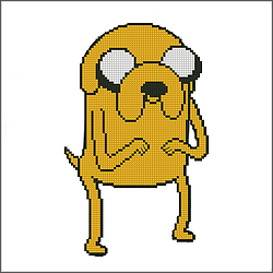 free adventure jake the dog cross stitch pattern