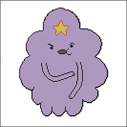 free adventure time lumpy space princess cross stitch pattern