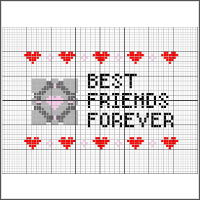 free portal best friends forever cross stitch pattern