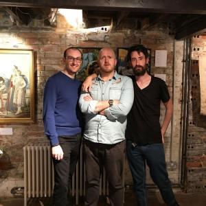 Lord Libidan, MrXStitch & KeithClark at the Farnham pottery exhibition (source: mrxstitch.com)