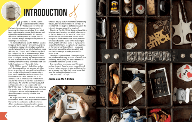 Mr X Stitch Guide to Cross Stitch Inside Pages 8-9 (source: mrxstitch.com)