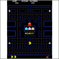 pacman screenshot free cross stitch pattern
