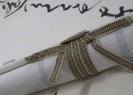 Traditional Sanada string (source: fashiontribes.typepad.com)