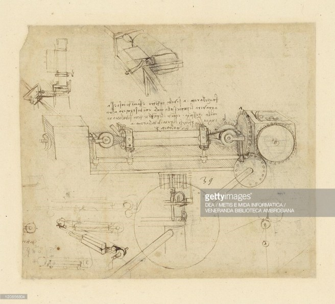 Lapper For Grinding Needle Points by Leonardo da Vinci (source: gettyimages)