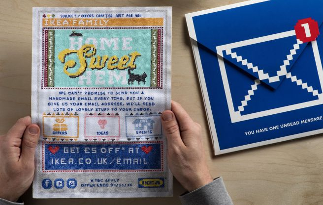 Ikea Lida cross stitched email (source: Lida)