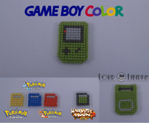 Title: Gameboy Color Micro Console Date Completed: June 2018 Design: Lord Libidan Count: 14 Canvas: Plastic Colours: 8 Game: Nintendo Gameboy, Pokemon Red, Pokemon Blue, Pokemon Yellow, Harvest Moon
