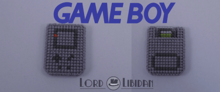 Title: Gameboy Micro Console Date Completed: June 2018 Design: Lord Libidan Count: 14 Canvas: Plastic Colours: 3 Game: Nintendo Gameboy