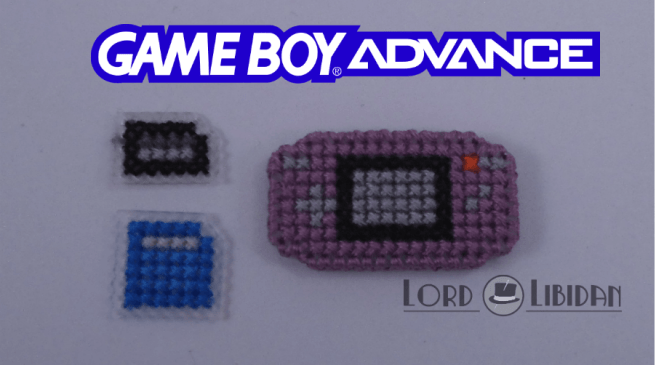 Title: Gameboy Advance Micro Console Date Completed: June 2018 Design: Lord Libidan Count: 14 Canvas: Plastic Colours: 4 Game: Nintendo Gameboy Advance
