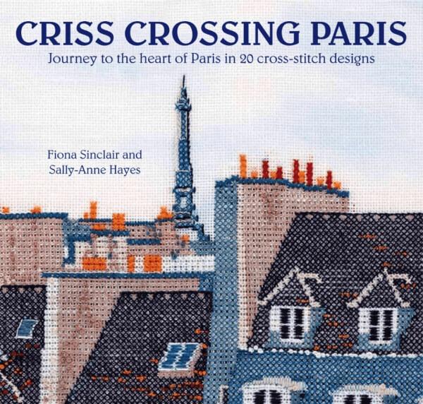 criss crossing paris cross stitch book cover