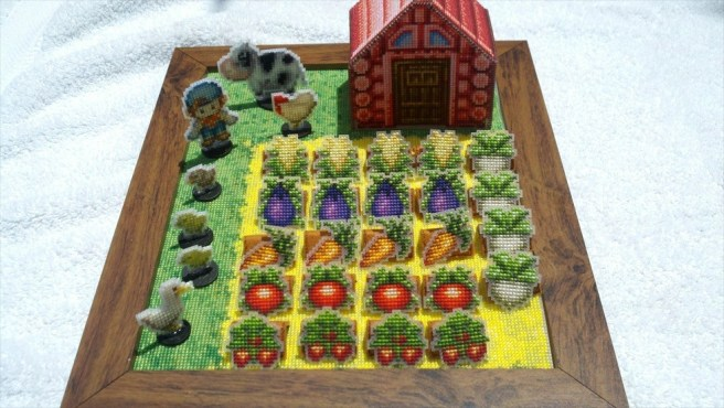 3D Harvest Moon Cross Stitch Playset by BlackMageHeart (Source: Etsy)