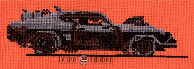 Mad Max Car Cross Stitch by Lord Libidan