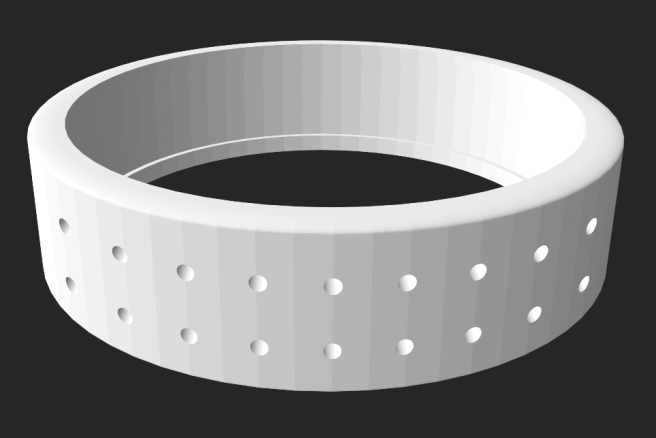 3D File for Printing Cross Stitch Ring by Lord Libidan