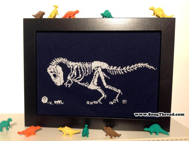 TRex Cross Stitch Pattern by SongThread (Source: Etsy)