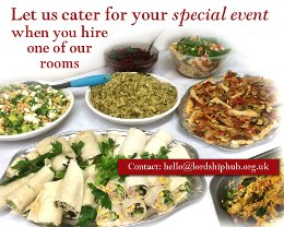 Let us cater for your special event when you hire one of our rooms.