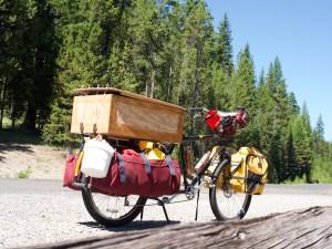 heavily loaded Surly Big Dummy cargo bike