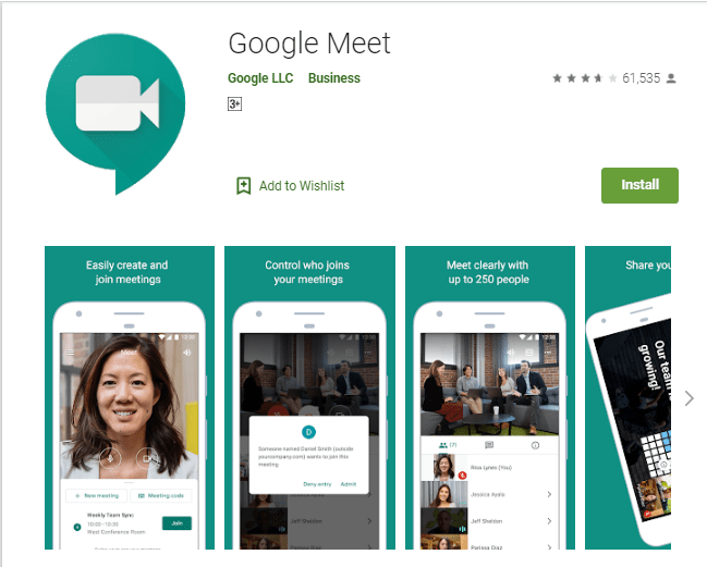 Google Meet App Passes 1 Billion Downloads On Play Store Challenge