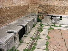 Publieke toilet bij de Romeinen