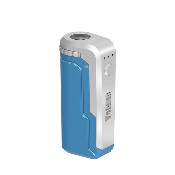 Yocan UNI Universal Portable Vaporizer Box Mod THC Oil Cartridges CBD Oil Cartridges Vape Pen Battery Yocan UNI 510-thread box battery offers ultimate protection and discretion for your oil cartridges Blue