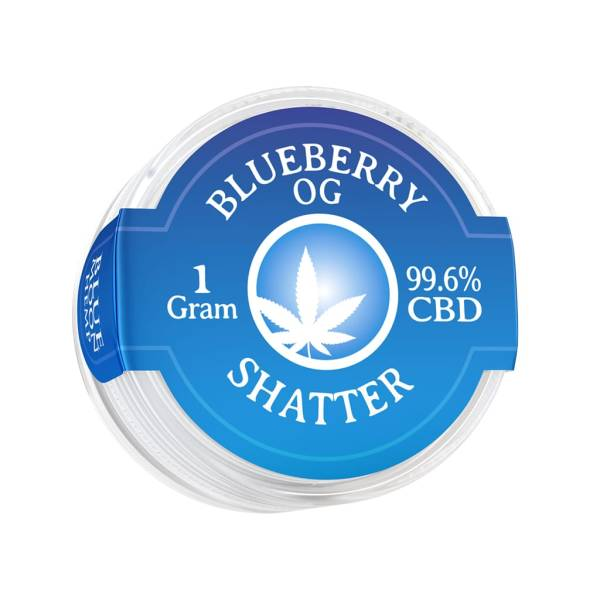Blue Moon Hemp 99.6% pure CBD shatter in 1g size