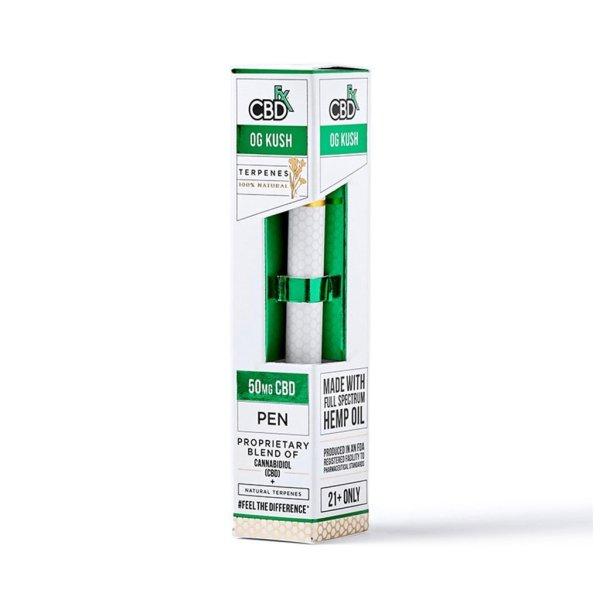 CBDfx CBD Terpenes Vape Pens with 50mg broad-spectrum CBD and OG Kush terpenes