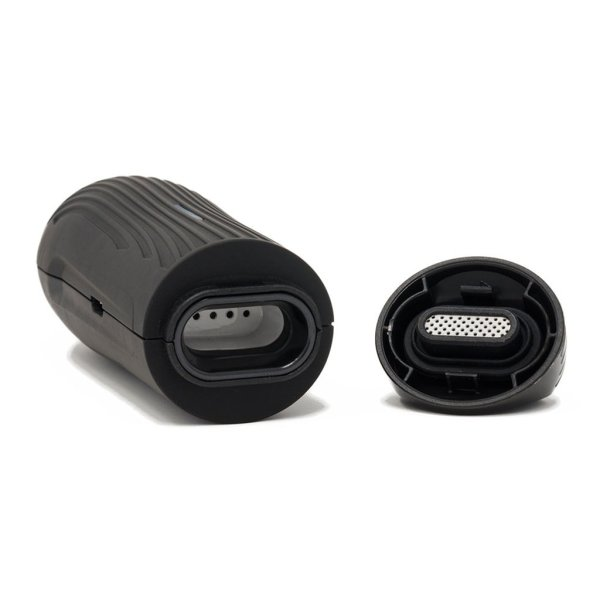 Boundless CFC Lite dry herb vaporizer in black chamber view
