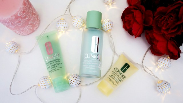 skin care routine with Clinique