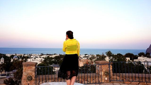 priveliste spre Kamari, Santorini