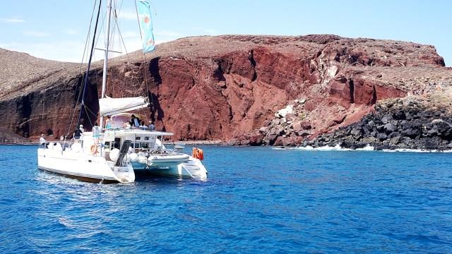 Red beach in Santorini Island