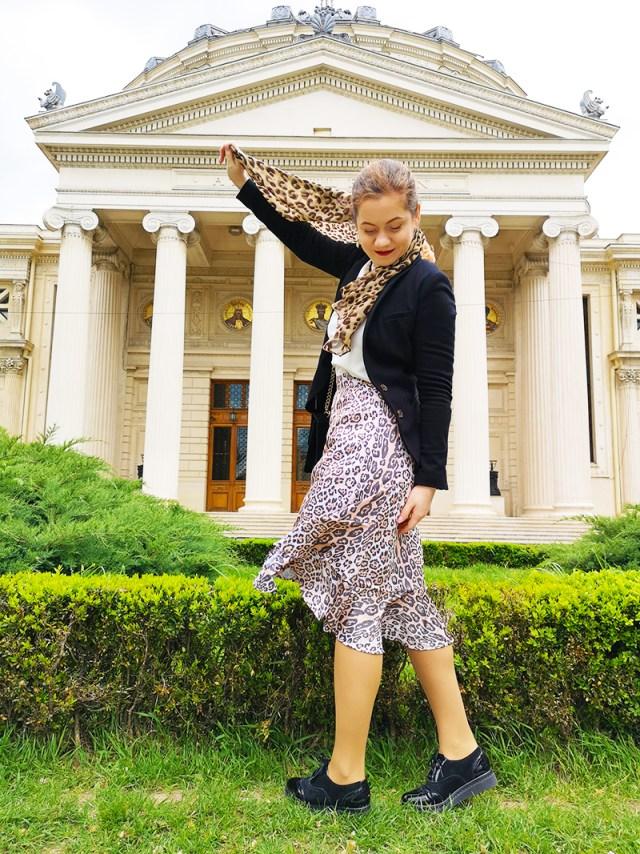 animal print skirt BonPrix - spring outfit - lorys blog