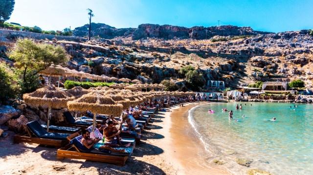 Agios Pavlos Beach in Rodos, Greece