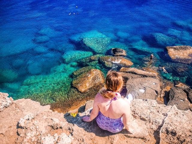 Kallithea Bay in Rodos, Greece-see the Aegean Sea