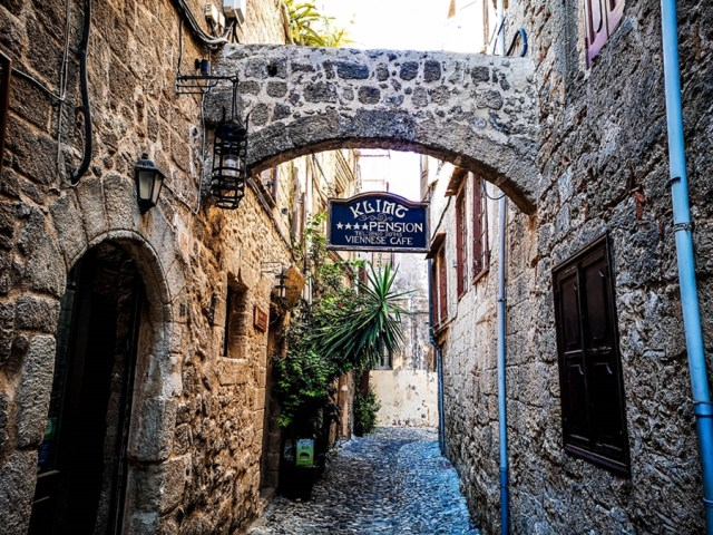 amazing streets in old town Rodos