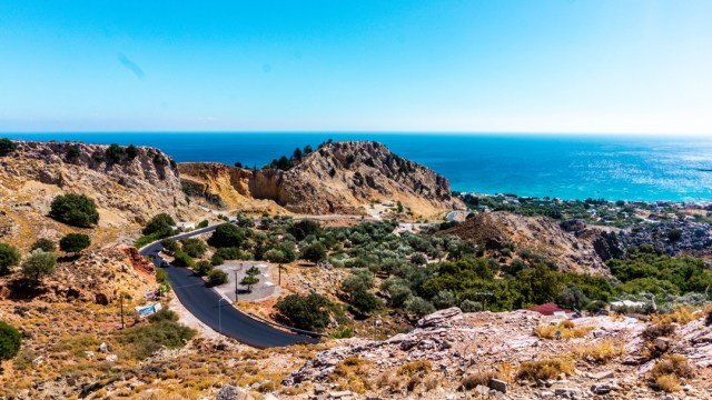 roads in Rodos Island