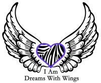 black and white wings with purple heart - I am dreams with wings teen esteem program
