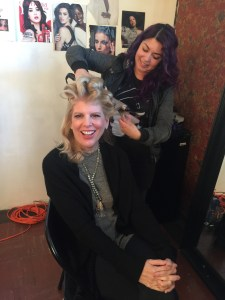 Fashion Film Ashton Clay having her all her hairs done by Edith Beltran