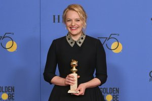 Producer Elisabeth Moss receives Golden Globe for Best Television Series Drama