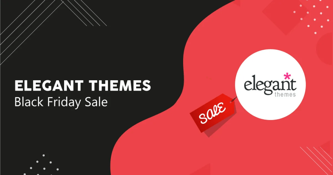 elegant themes black friday sale