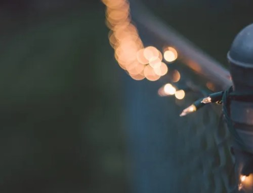 Twinkly Lights At Twilight photo