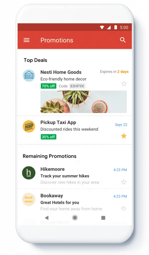 new Gmail Promotions Tab was launched by Google